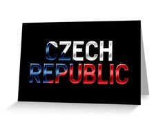 Czech Republic - Czech Flag - Metallic Text Greeting Card