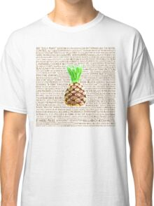 Psych Burton Guster Nicknames - Television Show Pineapple Room Decorative TV Pop Culture Humor Lime Neon Brown Classic T-Shirt