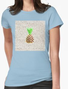 Psych Burton Guster Nicknames - Television Show Pineapple Room Decorative TV Pop Culture Humor Lime Neon Brown Womens Fitted T-Shirt
