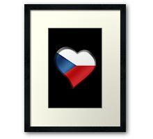 Czech Flag - Czech Republic - Heart Framed Print
