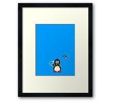 Domestic Penguin - Blow Dry Framed Print