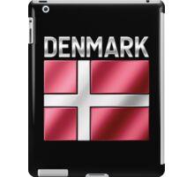 Denmark - Danish Flag & Text - Metallic iPad Case/Skin