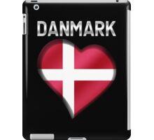 Danmark - Danish Flag Heart & Text - Metallic iPad Case/Skin
