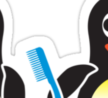 Bathroom Penguin - Bad Hair Day Sticker