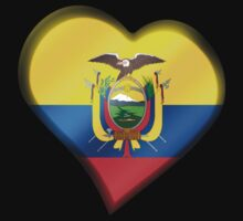 Ecuadorian Flag - Ecuador - Heart Kids Clothes