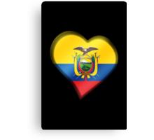 Ecuadorian Flag - Ecuador - Heart Canvas Print