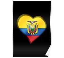 Ecuadorian Flag - Ecuador - Heart Poster