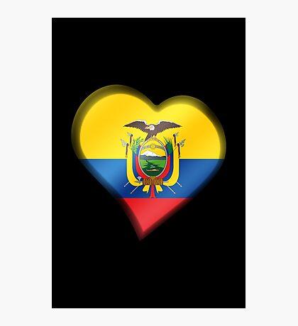 Ecuadorian Flag - Ecuador - Heart Photographic Print