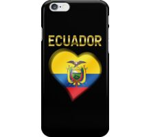 Ecuador - Ecuadorian Flag Heart & Text - Metallic iPhone Case/Skin