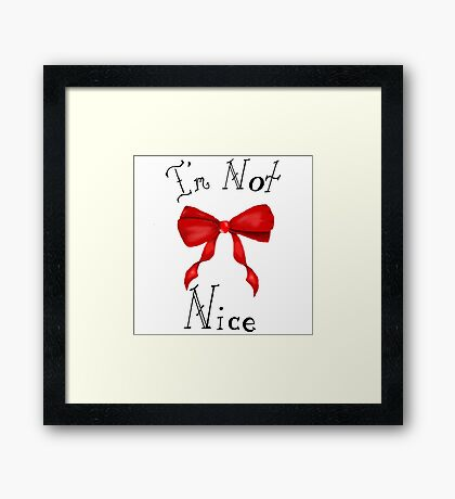 updated Red Bow Framed Print