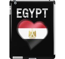 Egypt - Egyptian Flag Heart & Text - Metallic iPad Case/Skin