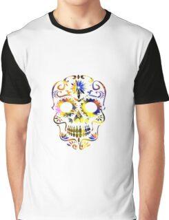 Psychedelic Multi-Color Skull Graphic T-Shirt