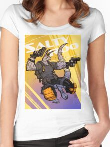 """""""Salty Roo 2099"""" Women's Fitted Scoop T-Shirt"""
