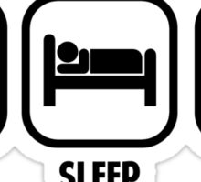EAT, SLEEP, MATH Sticker