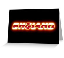 England - English Flag Logo - Glowing Greeting Card