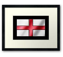 English Flag - England - Metallic Framed Print