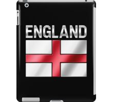 England - English Flag & Text - Metallic iPad Case/Skin