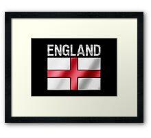 England - English Flag & Text - Metallic Framed Print