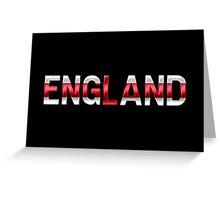 England - English Flag - Metallic Text Greeting Card