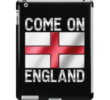 Come On England - English Flag & Text - Metallic iPad Case/Skin