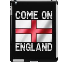 Come On England - English Flag & Text - Metallic iPad Case/Skin