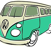 VW Type 2 bus green by car2oonz