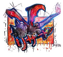Epic Shiny Charizard Streetart Tshirts + More ' Pokemon ' by Jonny2may