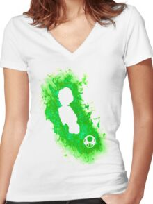 Luigi Spirit Women's Fitted V-Neck T-Shirt