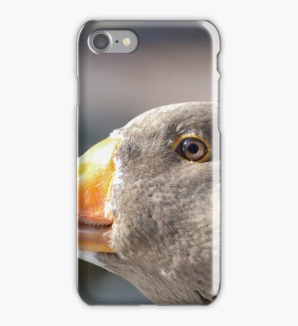Goose portrait iPhone Case/Skin