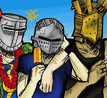 Solaire of Astora, Lautrec of Carim and Oscar of Astora- Dark Souls by SarenH