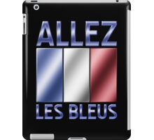 Allez Les Bleus - French Flag & Text - Metallic iPad Case/Skin