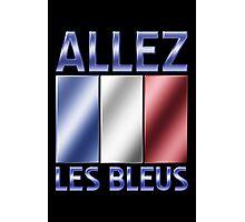 Allez Les Bleus - French Flag & Text - Metallic Photographic Print