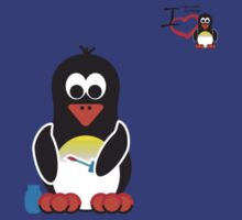 Bathroom Penguin - Nail Painting by jimcwood