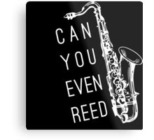 Can You Even Reed? Metal Print