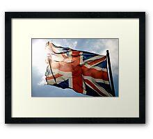 Fluttering flag Framed Print