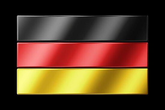 German Flag - Germany - Metallic by graphix