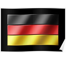 German Flag - Germany - Metallic Poster