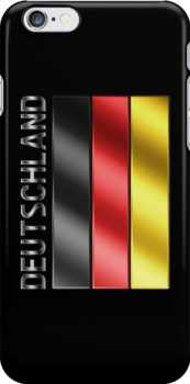 Deutschland - German Flag & Text - Metallic by graphix