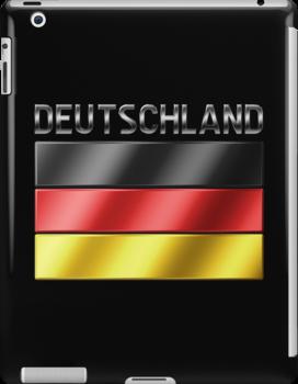 Deutschland - German Flag & Text - Metallic by graphix