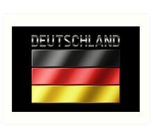 Deutschland - German Flag & Text - Metallic Art Print