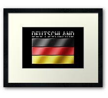 Deutschland - German Flag & Text - Metallic Framed Print