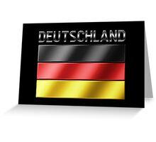 Deutschland - German Flag & Text - Metallic Greeting Card