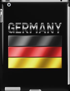 Germany - German Flag & Text - Metallic by graphix