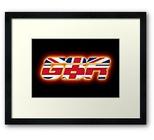 GBR - Great Britain - Flag Logo - Glowing Framed Print
