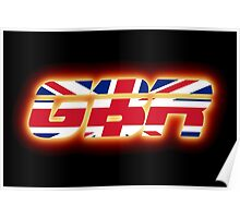 GBR - Great Britain - Flag Logo - Glowing Poster