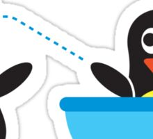 Bathroom Penguin - Rub-a-dub-dub in the Tub Sticker