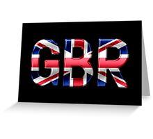 GBR - British Flag - Metallic Text Greeting Card