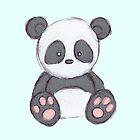 Cute Panda Drawing  by Clothescrazy01