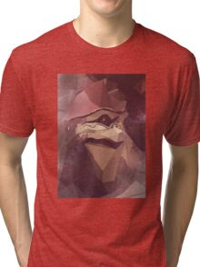 Low Polygon Wrex Tri-blend T-Shirt