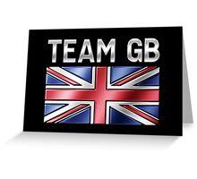 Team GB - British Flag & Text - Metallic Greeting Card